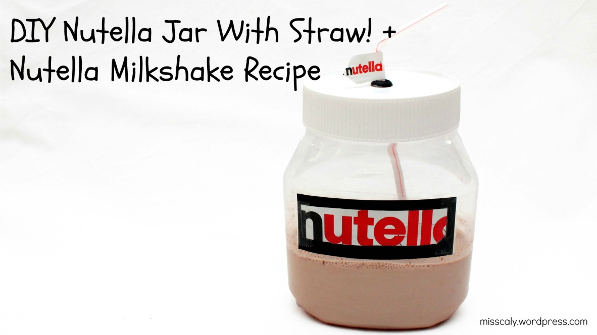 DIY nutella with straw