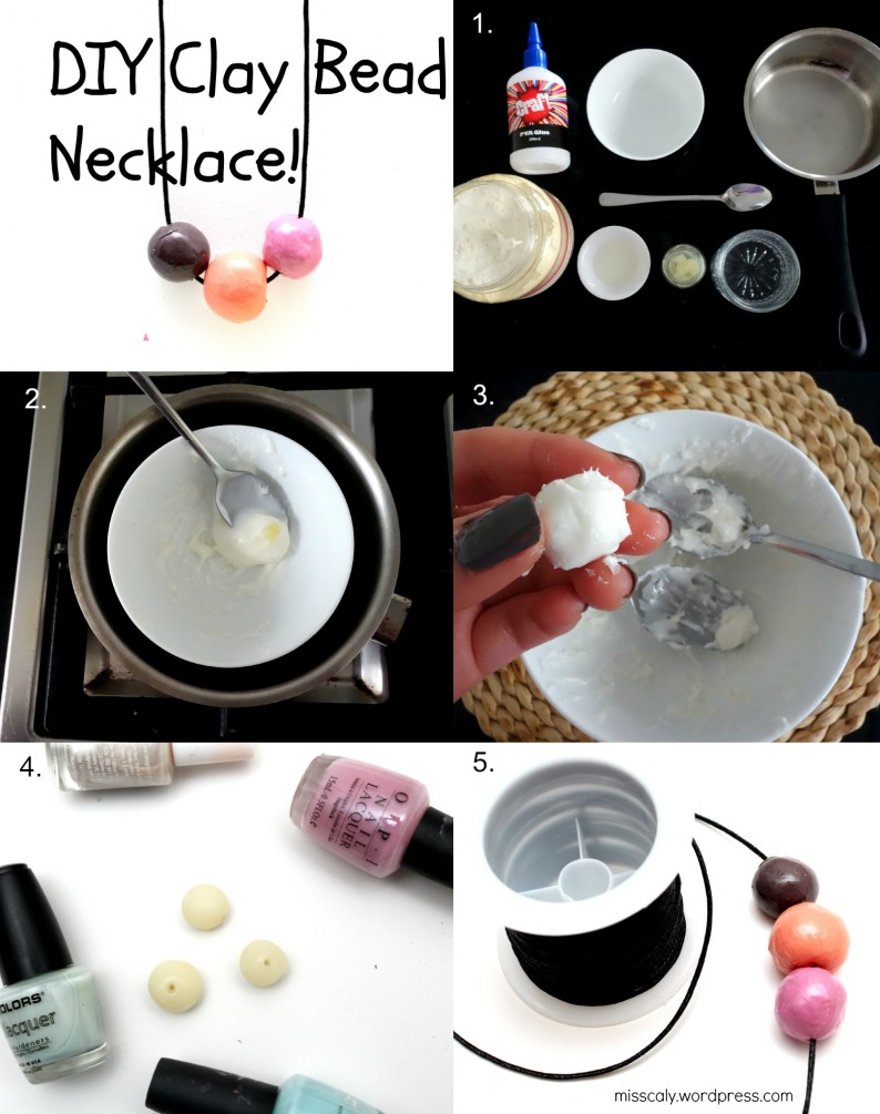 diy necklace collage
