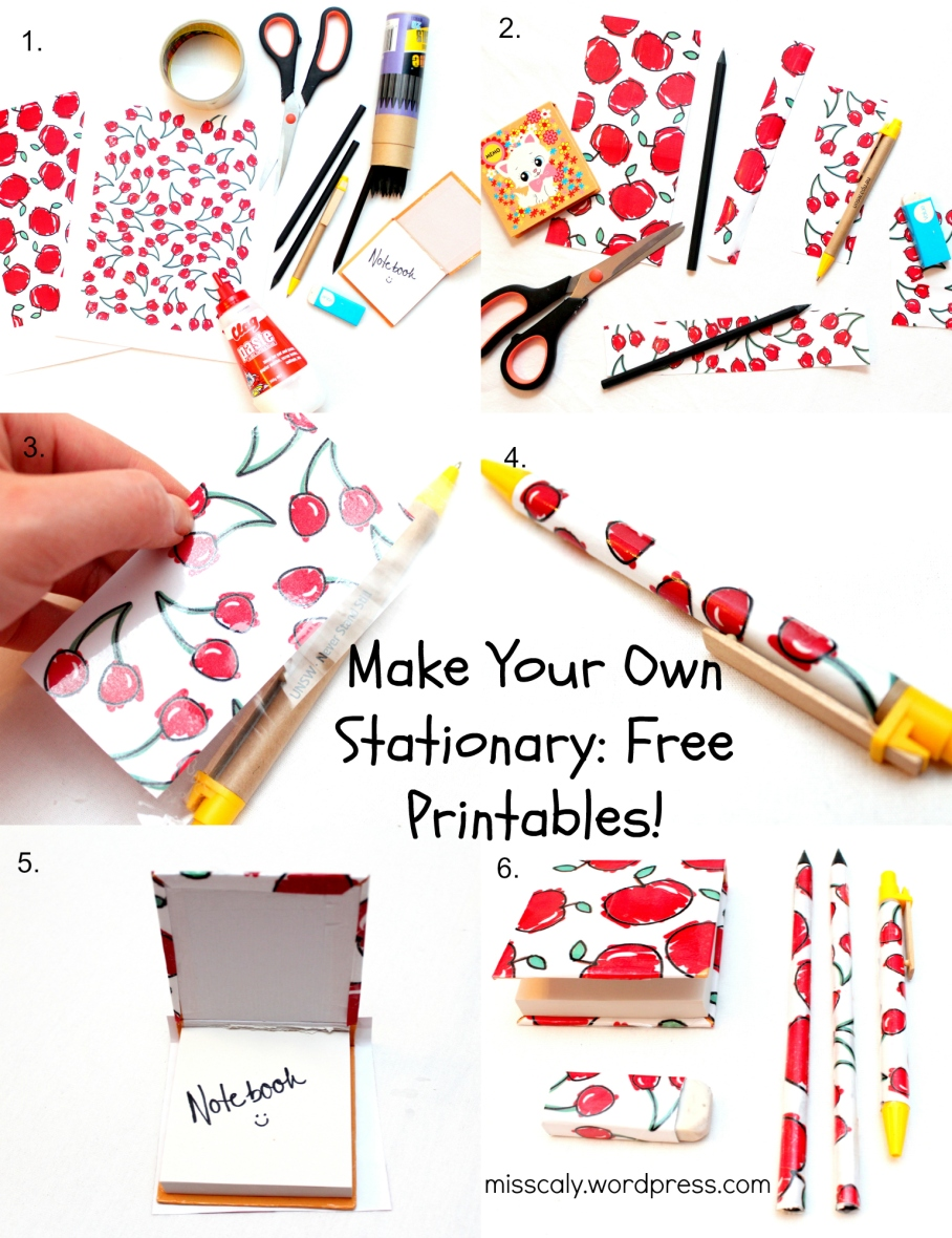 diy stationary collage