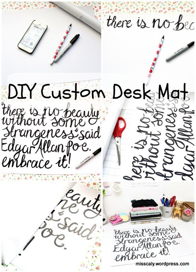 DIY custom desk mat