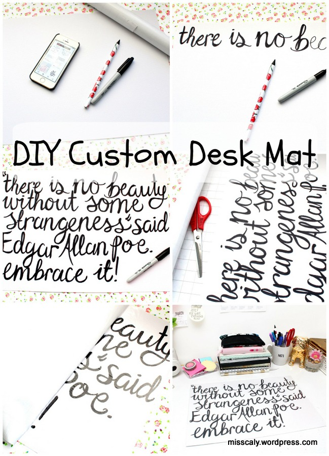 DIY custom desk mat