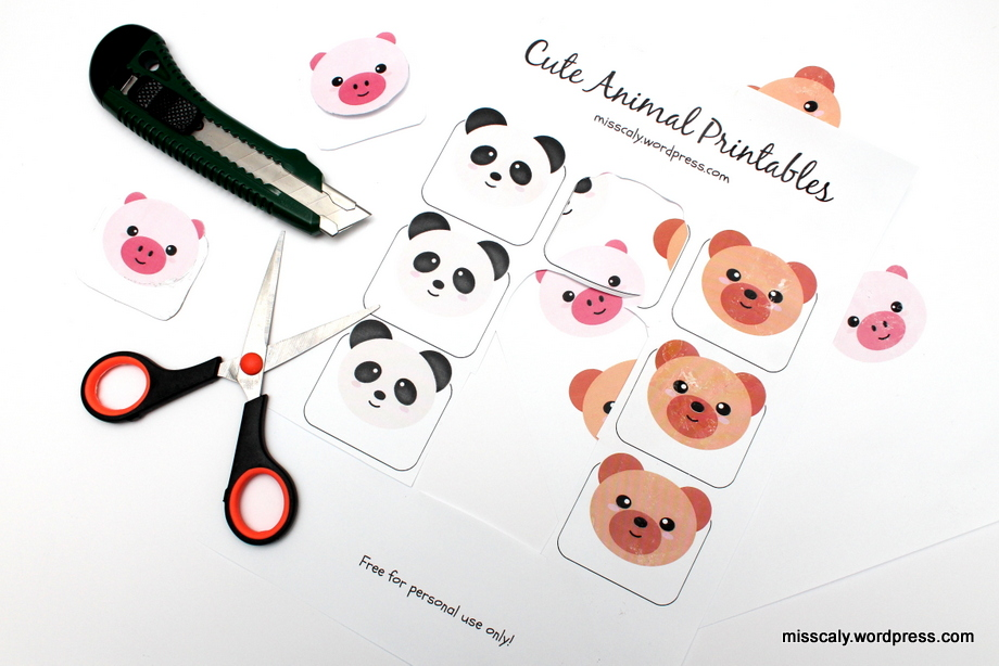 Cute Animal Printables + Make Your Own Bookmark! – m i s s c a l y