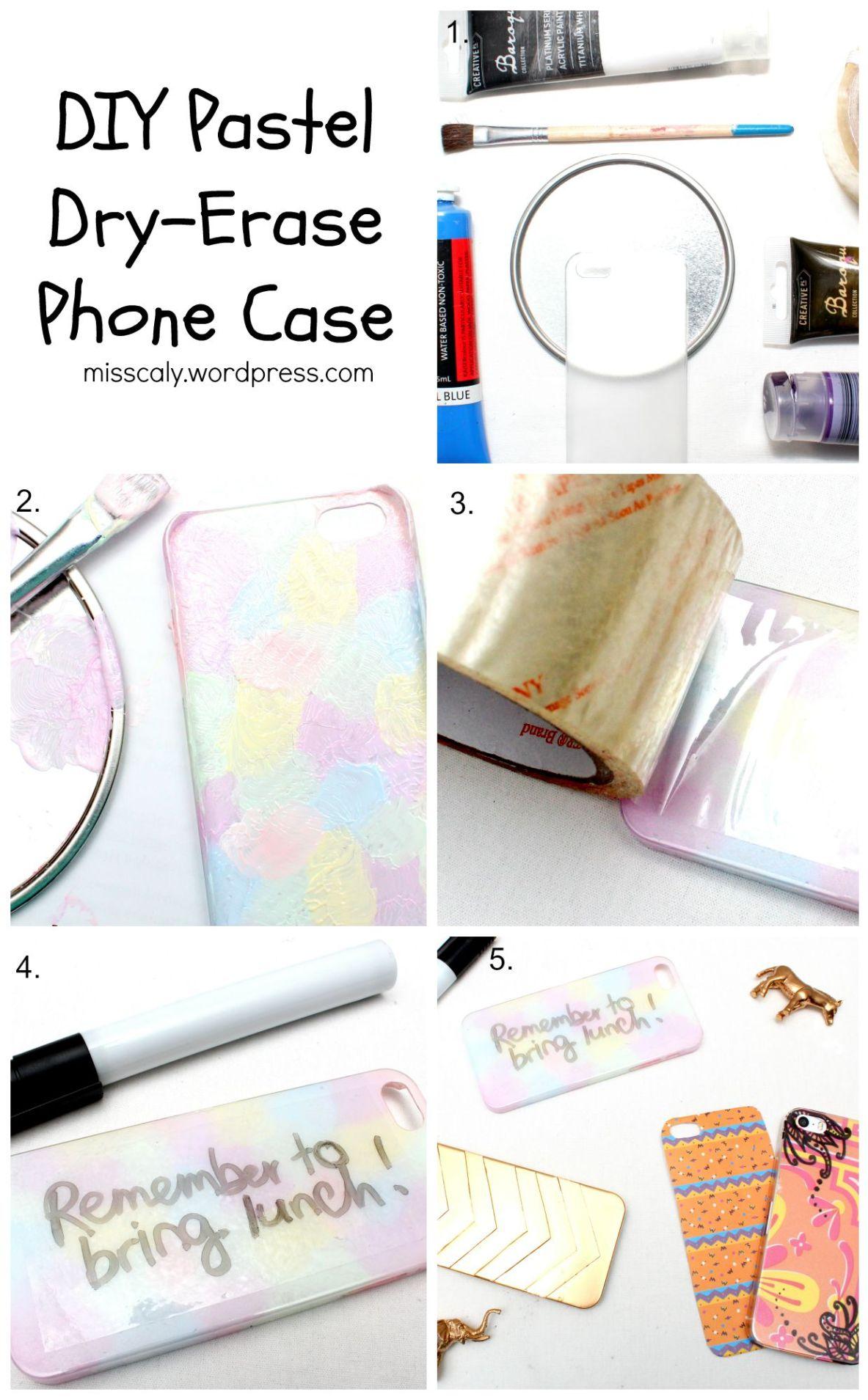 Pastel Dry Erase Case