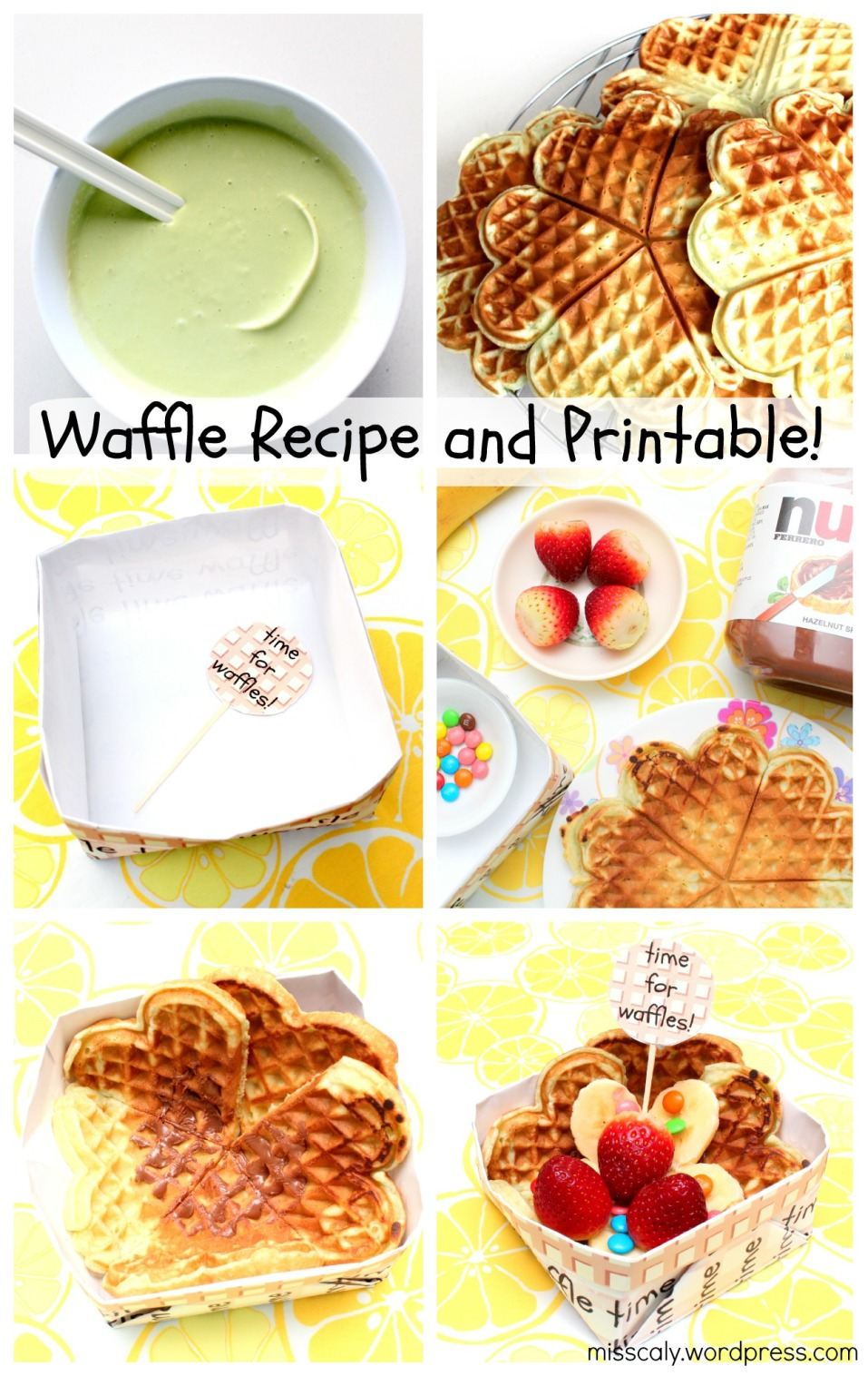 waffle recipe and printable!