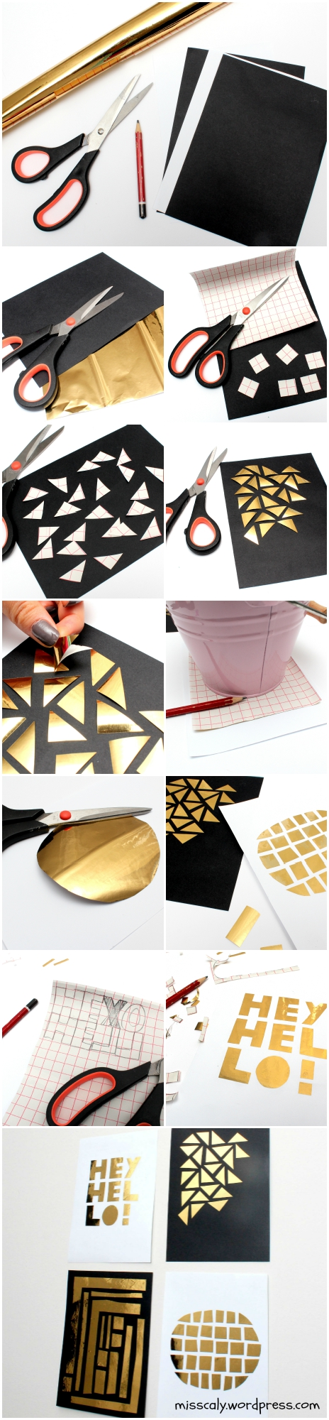 diy gold wall art