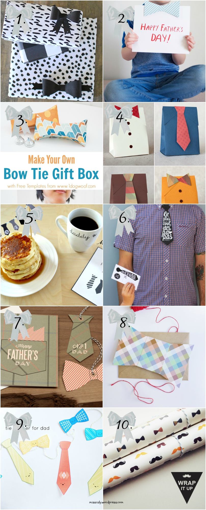 father's day bow printables