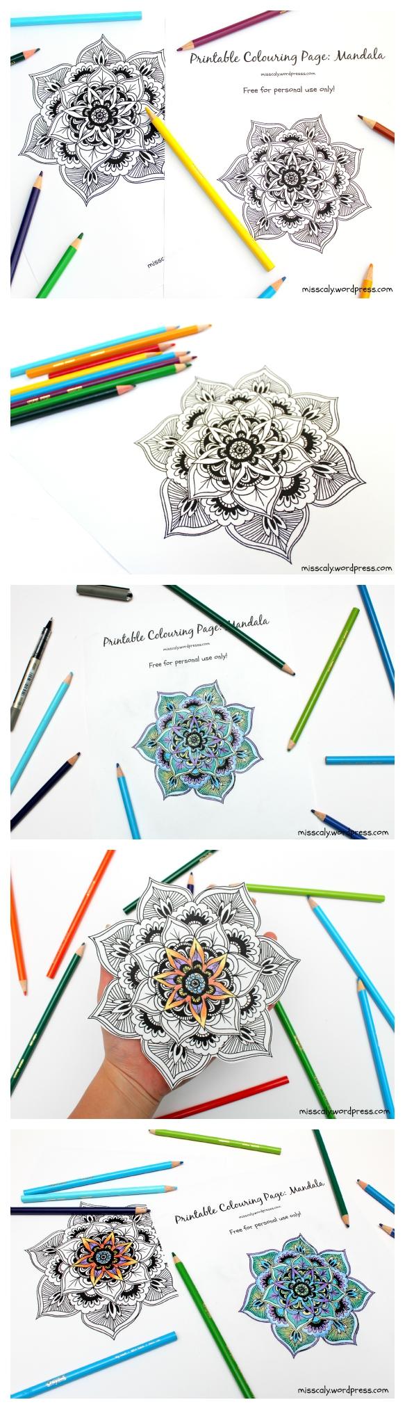 Printable colouring Mandala
