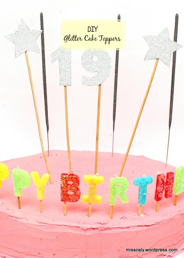 diy glitter cake