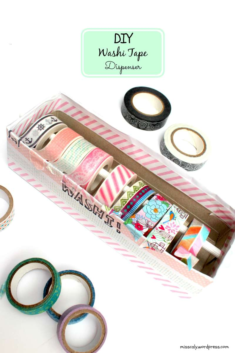 diy washi tape dispenser m i s s c a l y. Black Bedroom Furniture Sets. Home Design Ideas