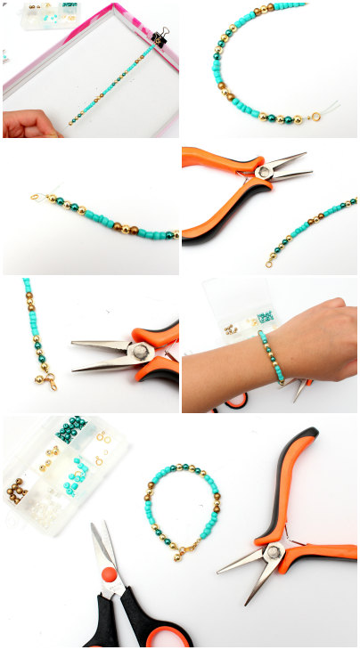 DIY bracelet stack series! How to make bracelet No.2 Part 2