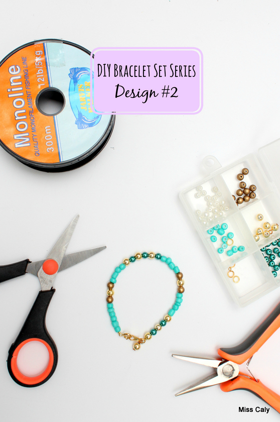 DIY bracelet stack series! How to make bracelet No. 2.