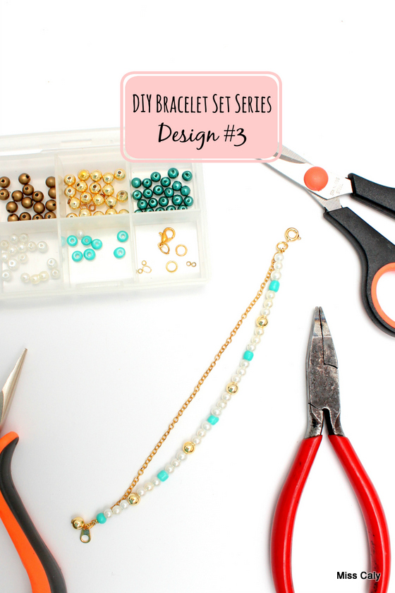 DIY bracelet stack series! How to make bracelet No. 3.