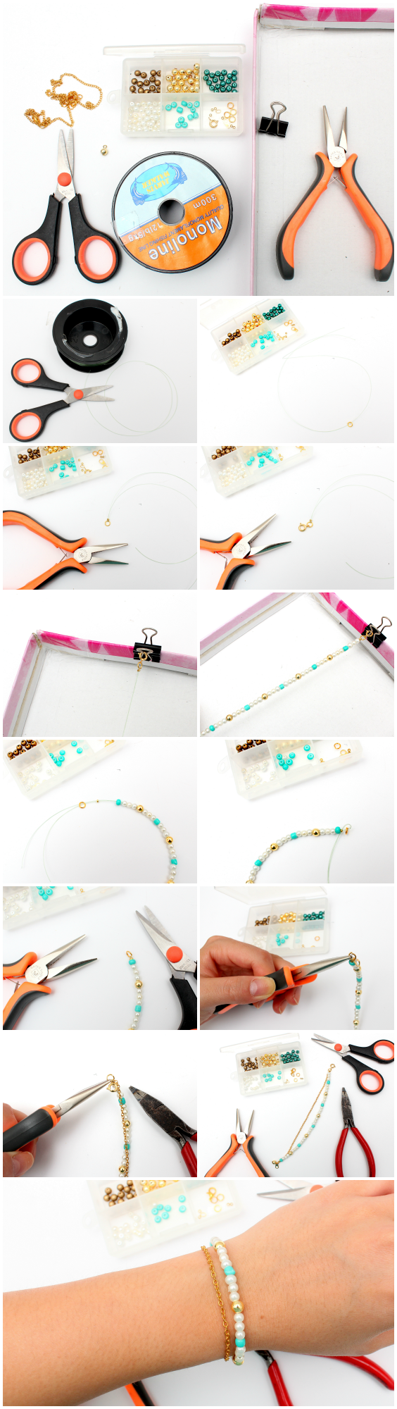 DIY bracelet stack series! How to make bracelet No.3