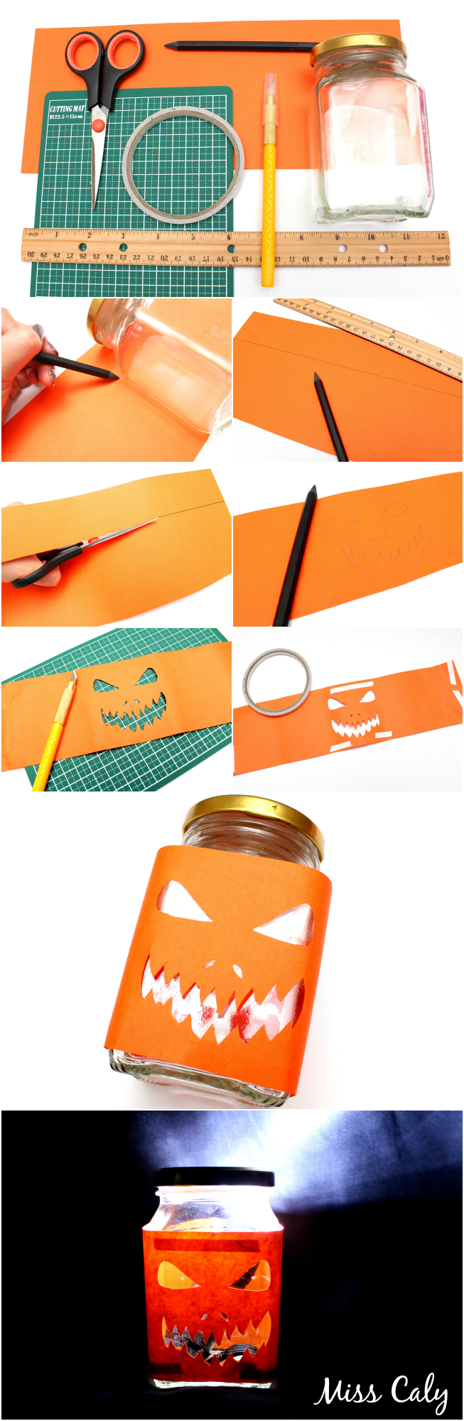 Pumpkin face DIY