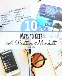 Ways to keep a positive mindset