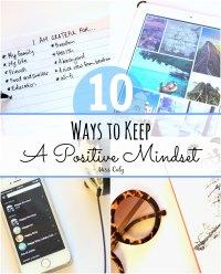 Ways to keep a positive mindset