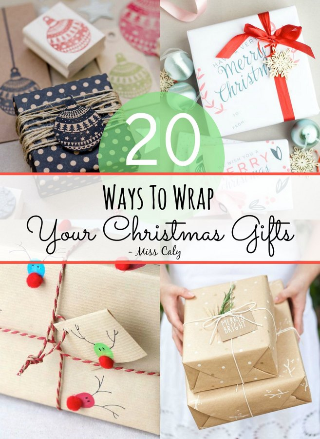 20 ways to wrap your Christmas gifts! - Miss Caly