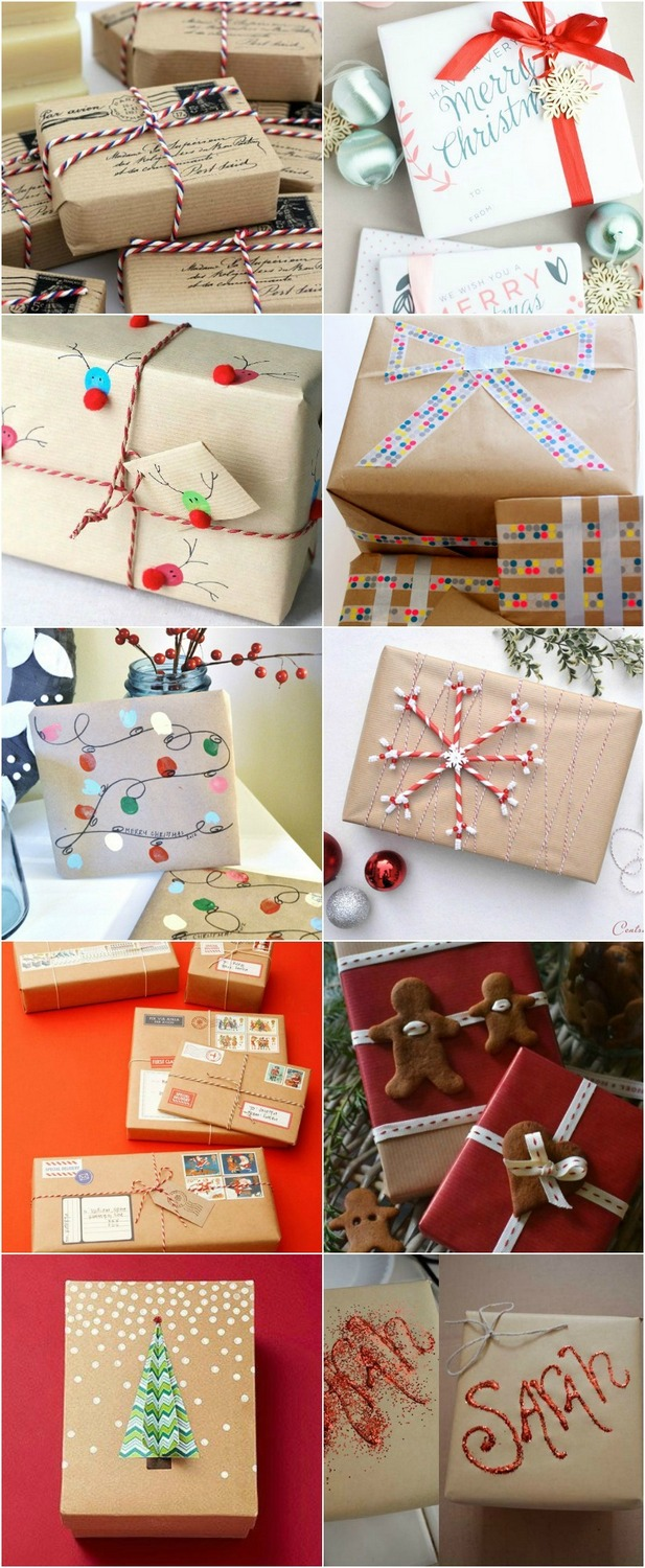 20 ways to wrap your gifts for Christmas! - Miss Caly