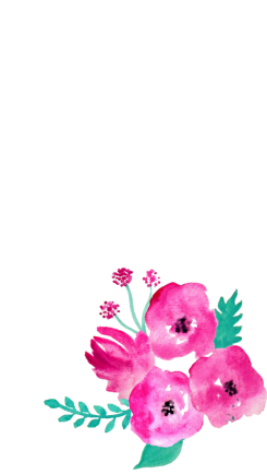 Free Phone Wallpapers - Watercolour Flowers at https://misscaly.wordpress.com