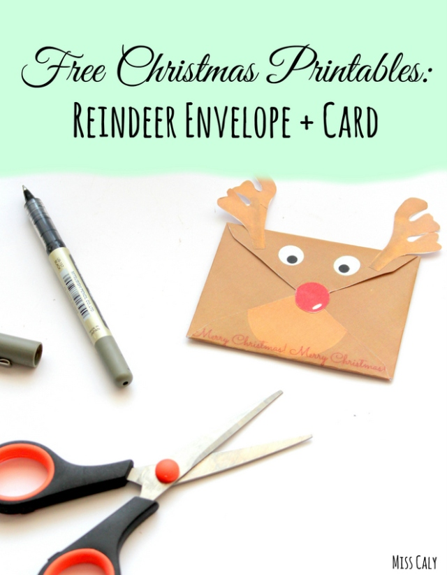 Free Christmas Printables - Reindeer Envelope and Card!