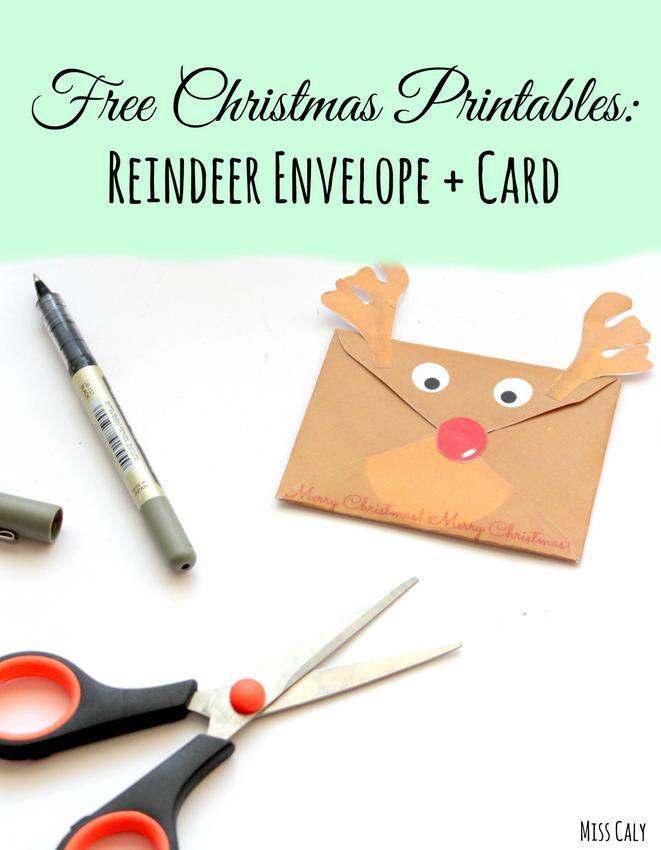 Free Christmas Printables - Reindeer Envelope and Card!