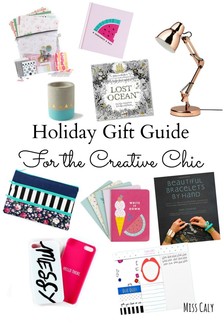 Holiday gift guide for the creative chic! I can't believe it's that time of year again, how exciting!
