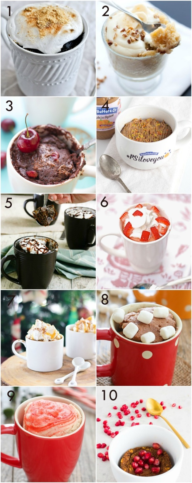 10 Yummy Mug Cakes to Try These Holidays! - Miss Caly