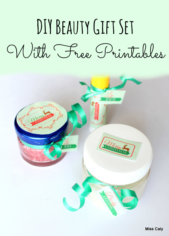 DIY Beauty Gift Set - Free Printables! By Miss Caly