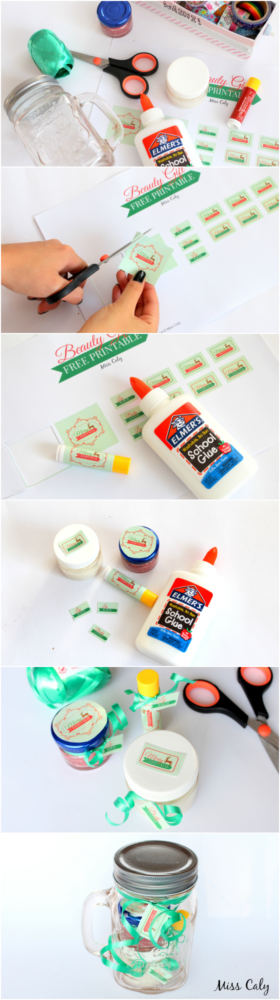 DIY Beauty Gift Set - with Free Printables! By Miss Caly