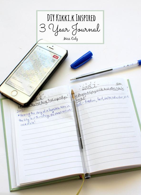 DIY Kikki.k Inspired 3 Year Journal - By Miss Caly