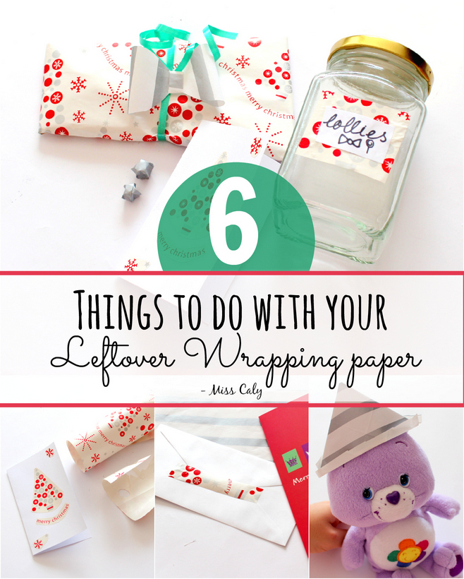 Don't throw out that leftover wrapping paper! Here are 6 things to do with it instead - By Miss Caly