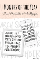 Months of the year free printable and wallpaper - By Miss Caly