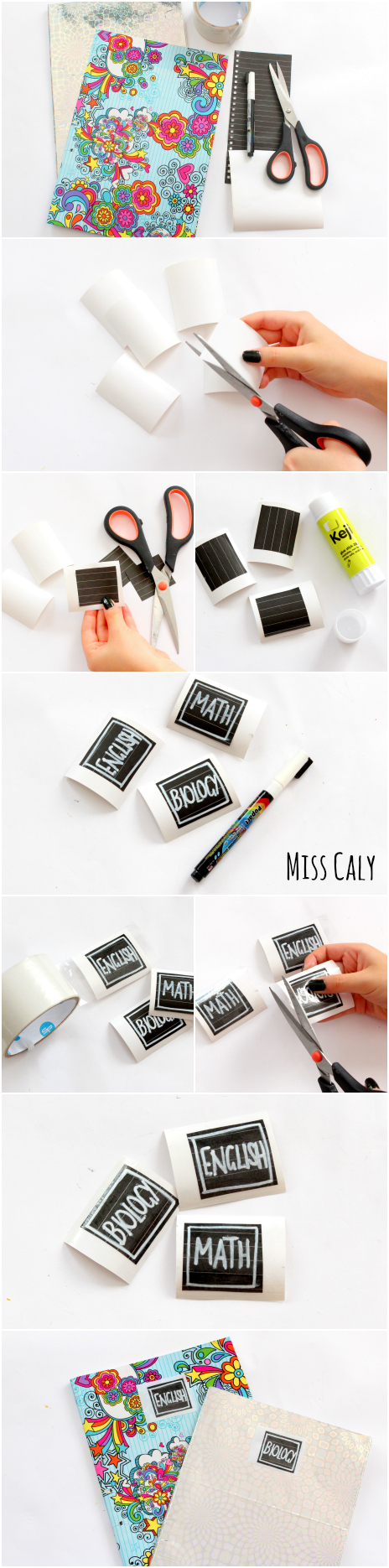 5 Minute DIY School Book Labels - Miss Caly