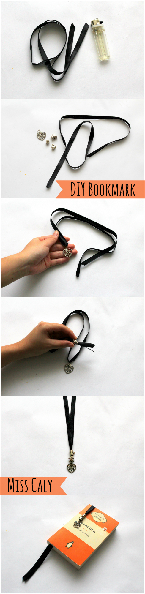 5 Minutes to Make a Classy Ribbon Bookmark - By Miss Caly