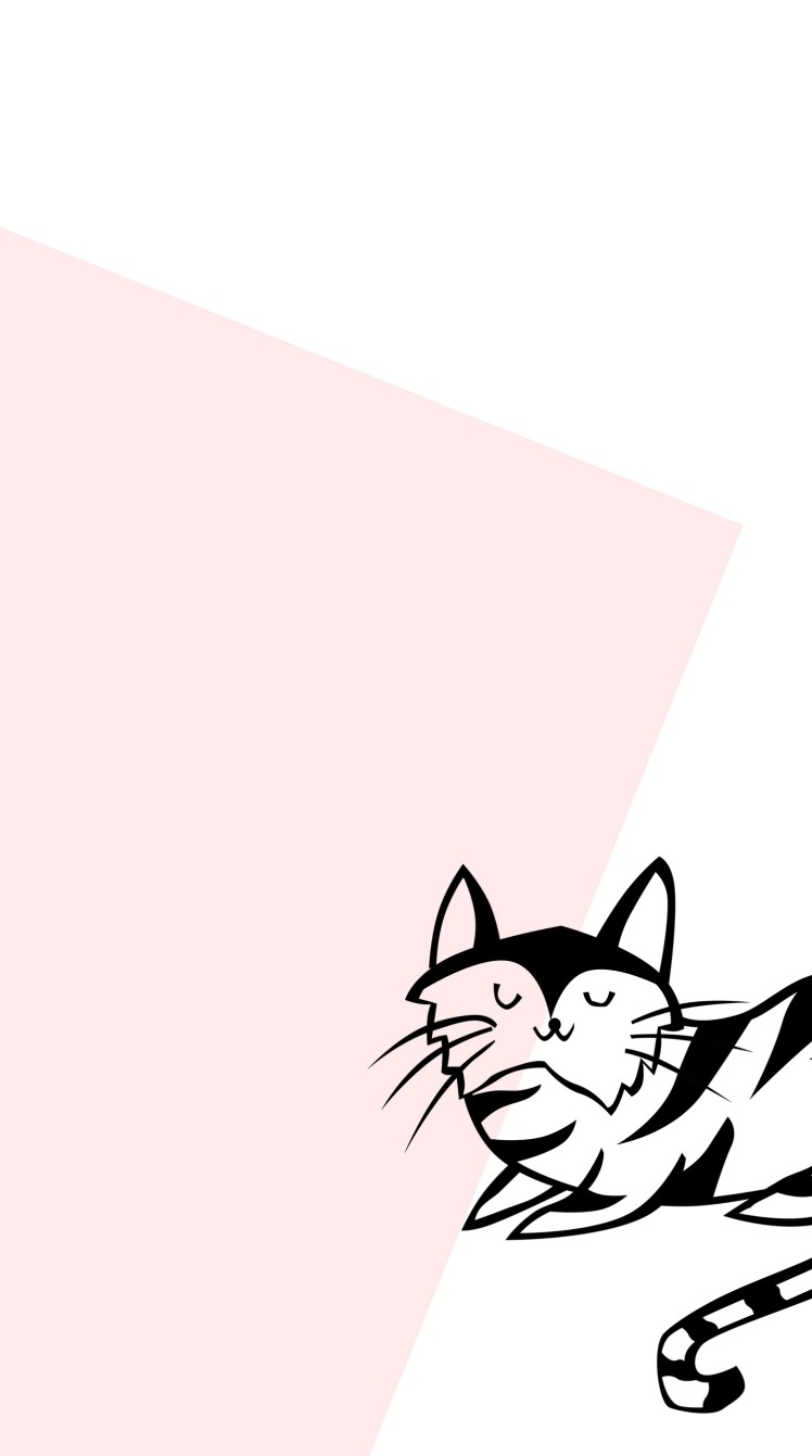 Cute Minimal Cat Wallpaper 3 - Miss Caly