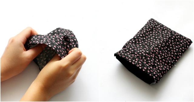 DIY easy drawstring pouch! Step 5