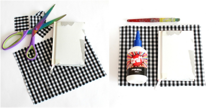 DIY fabric notebook cover - Step 1