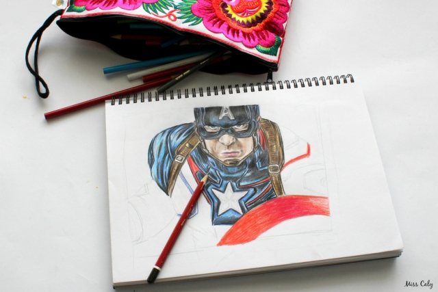 Drawing Captain America - By Miss Caly  (4)