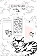 Free download Smiley Cat phone wallpapers! By Miss Caly