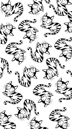 Happy Cats Wallpaper 2 - Miss Caly