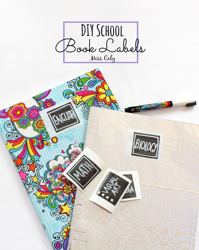 Quick and Easy DIY School Book Labels - Miss Caly