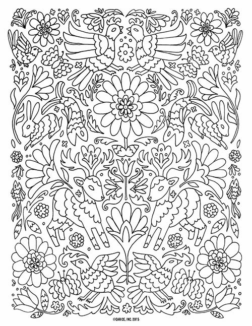 8 Free Printable Mindful Colouring Pages | Miss Caly