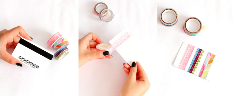 DIY Card Washi Tape Holder - Miss Caly
