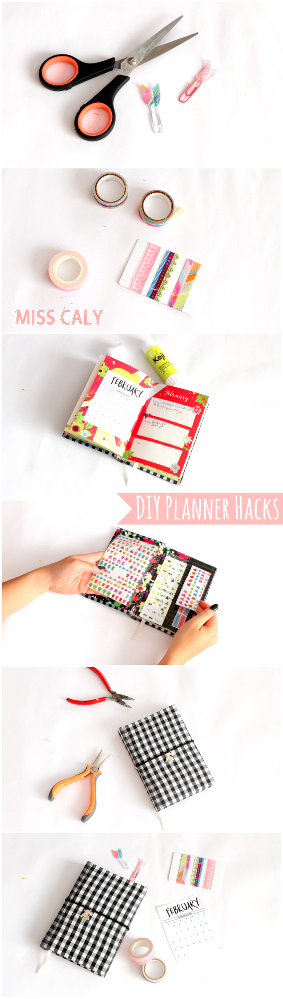 Easy DIY planner hacks you need to know! - Miss Caly