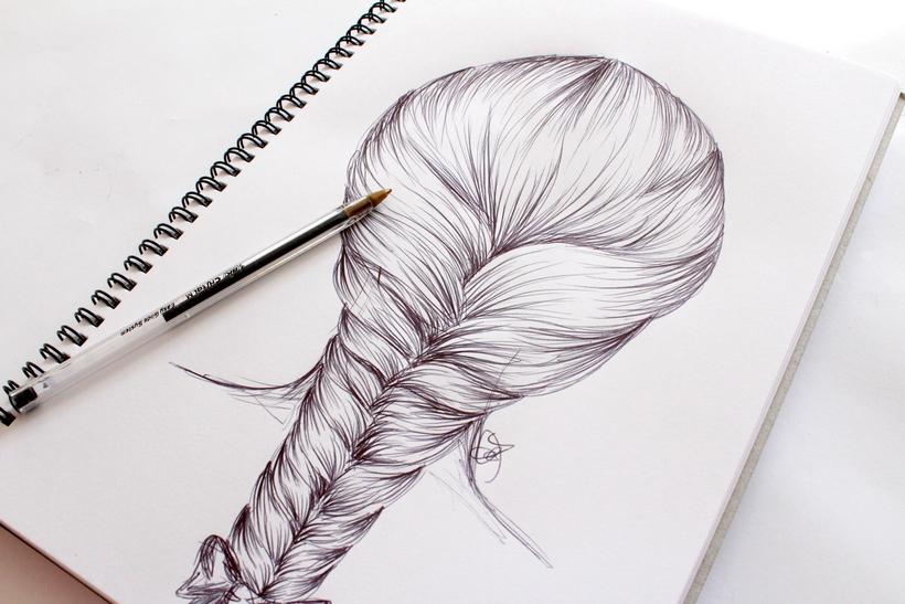 How to Draw a Hair Braid \u2013 Step by Step \u2013 m i s s c a l y