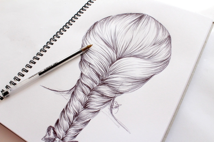 How to draw hair - By Miss Caly (16)
