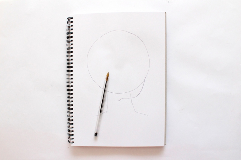 How to draw hair - By Miss Caly (2)