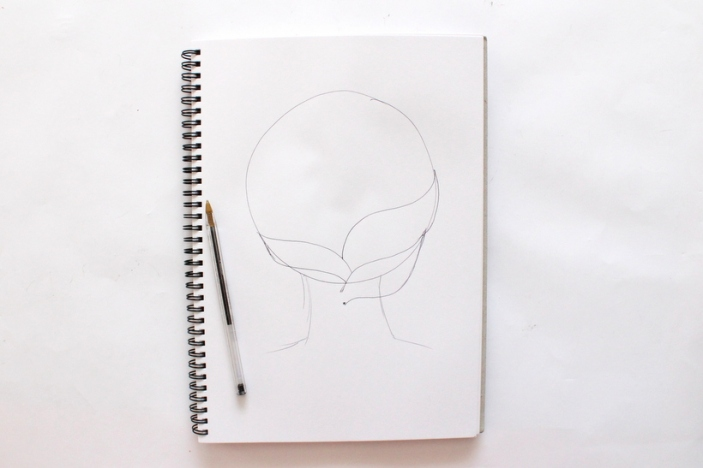 How to draw hair - By Miss Caly (5)