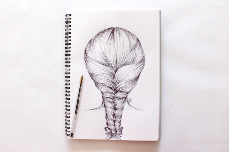How to draw hair - Miss Caly