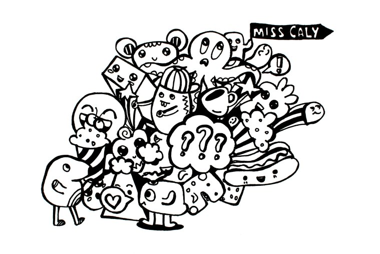 Random things doodle by Miss Caly